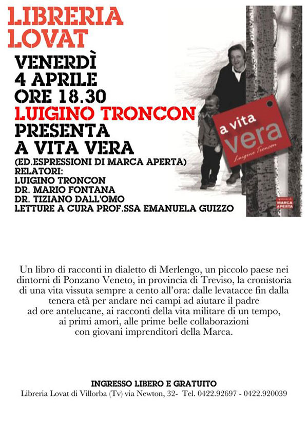 Luigino Troncon libro