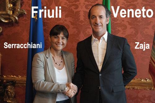 Zaia e Serracchiani, Friuli e Veneto