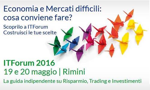 itforum 2016, rimini, trading