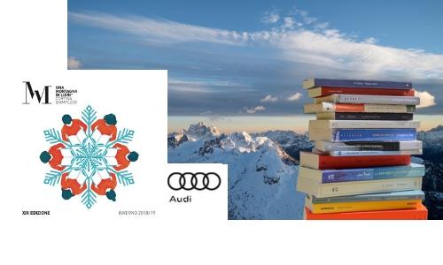 montagna, libri, cortina, letteratura